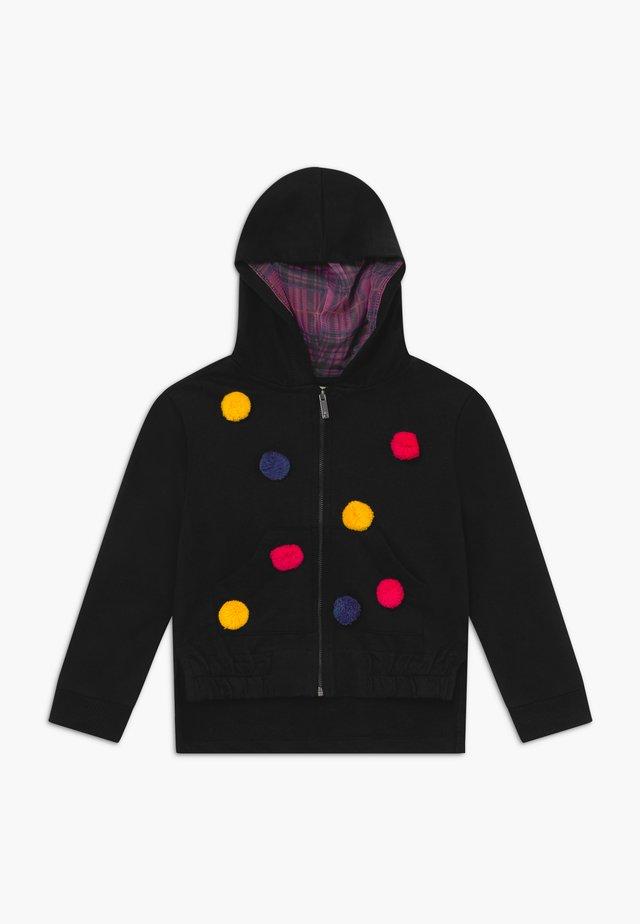 FULL ZIP - Zip-up hoodie - pirate black
