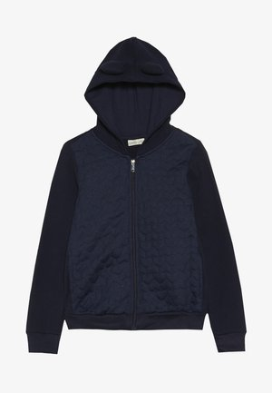 FULL ZIP WITH HOOD - Sudadera con cremallera - dark blue