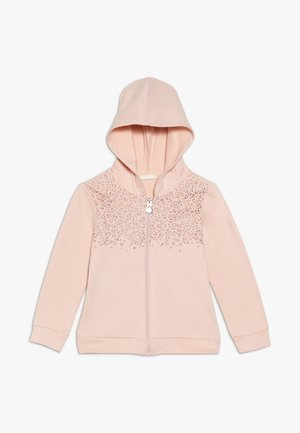 FULL ZIP GLITTER PRINT - Collegetakki - pale blush