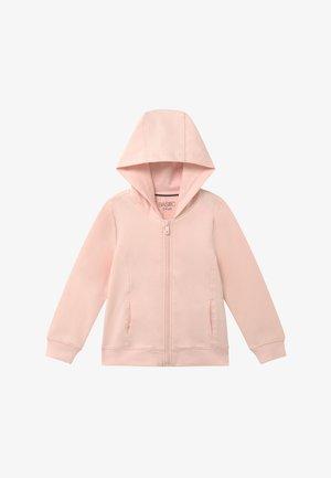 Mikina na zip - heavenly pink