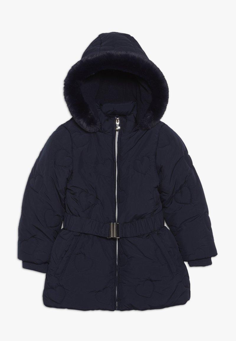 OVS - ZIP BELT - Winter coat - estate blue