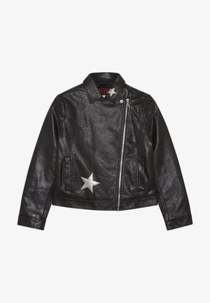 JACKET FAKE LEATHER - Faux leather jacket - meteorite