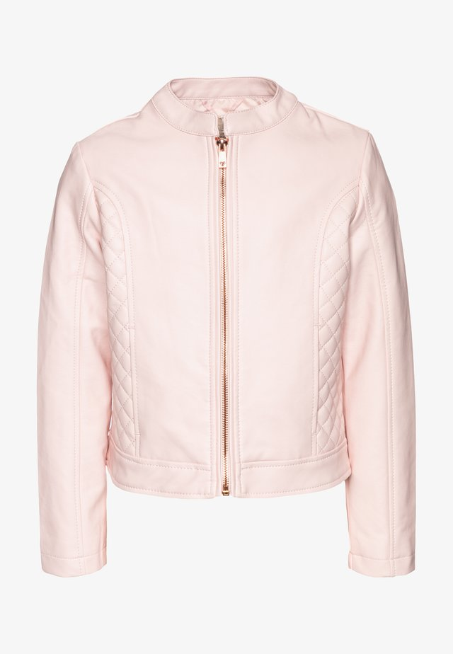 Faux leather jacket - crystal rose