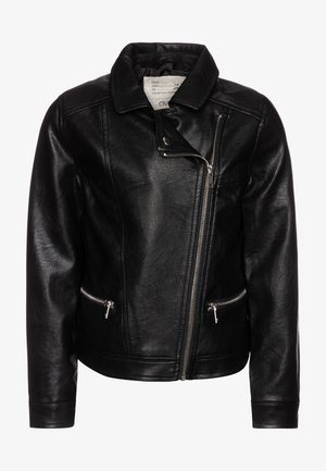 BIKER - Faux leather jacket - raven