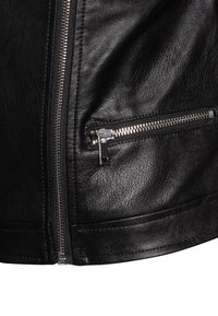 OVS - BIKER - Faux leather jacket - raven - 2