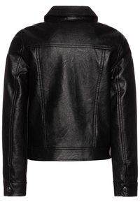 OVS - BIKER - Faux leather jacket - raven - 1