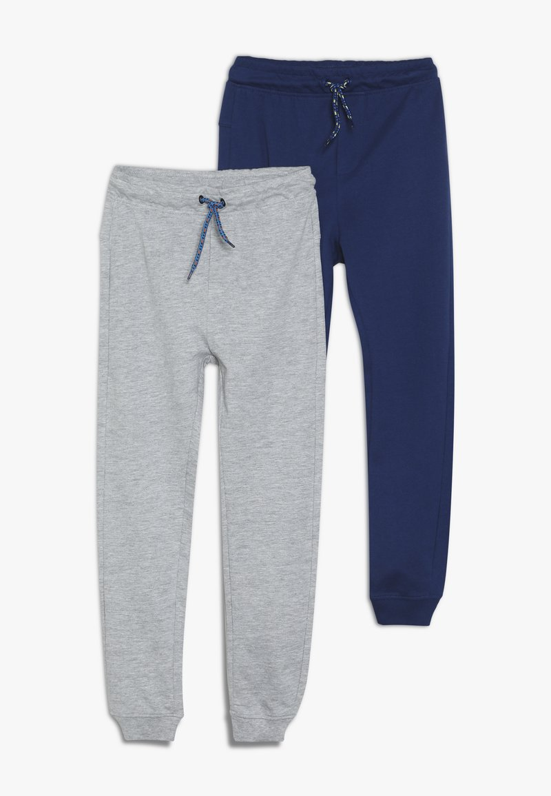 OVS - PANT 2 PACK - Tracksuit bottoms - navy peony/dapple gray