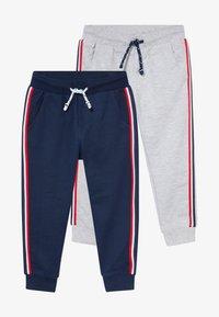 OVS - 2 PACK - Trousers - harbor mist/crown blue - 4