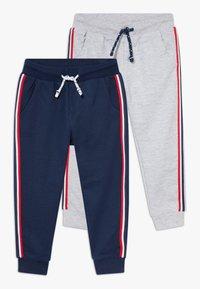 OVS - 2 PACK - Trousers - harbor mist/crown blue - 0