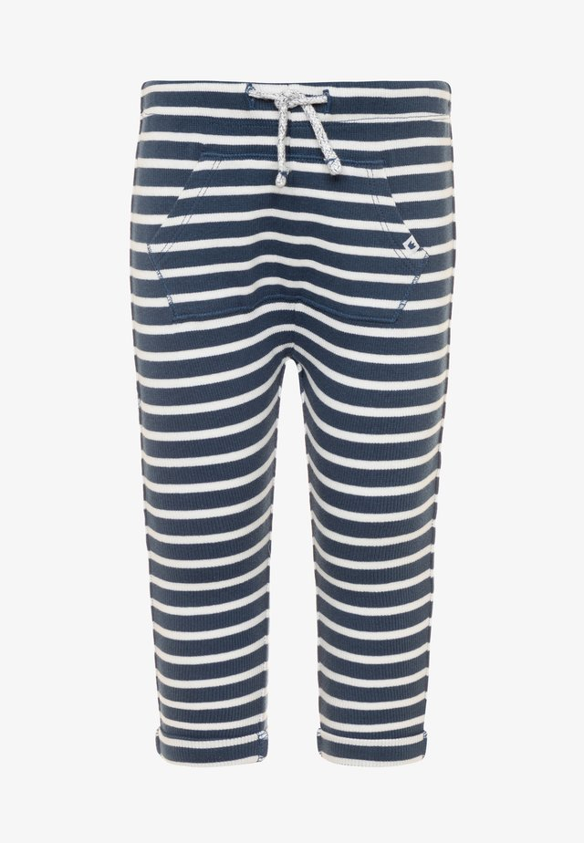 STRIPED PANTS - Träningsbyxor - navy/offwhite