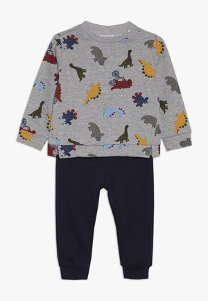 BABY JOGGING ROUND NECK SET - Sweatshirt - grey melange