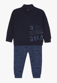 OVS - BABY JOGGING FULL ZIP SET - Zip-up hoodie - navy blue - 0