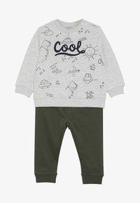 OVS - BABY JOGGING SET - Sweatshirt - beige melange - 3