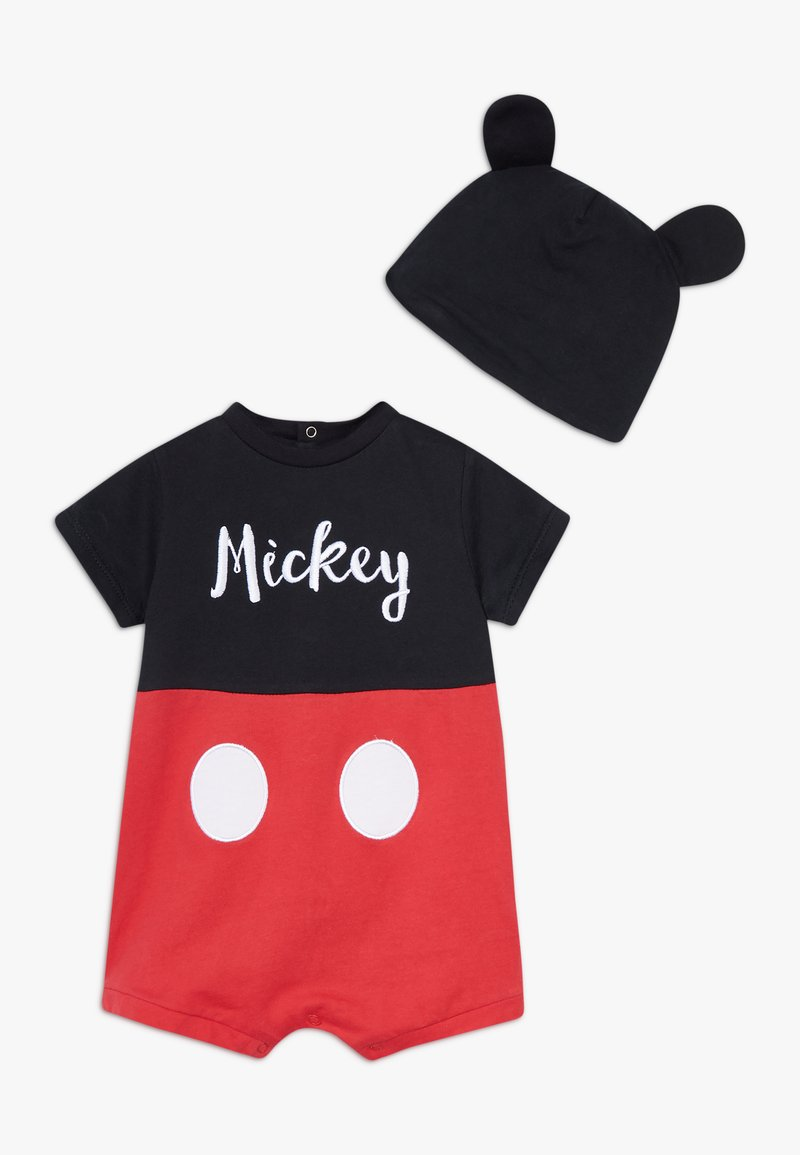 OVS - MICKEY ROMPER HAT SET - Čepice - black bean