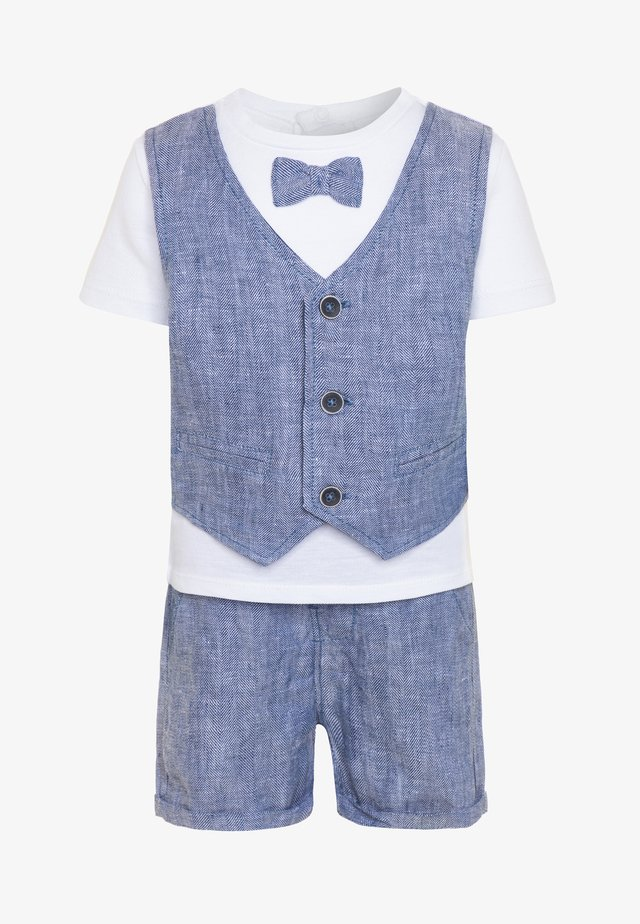 WITH VEST BOW SET - Shorts - bright white