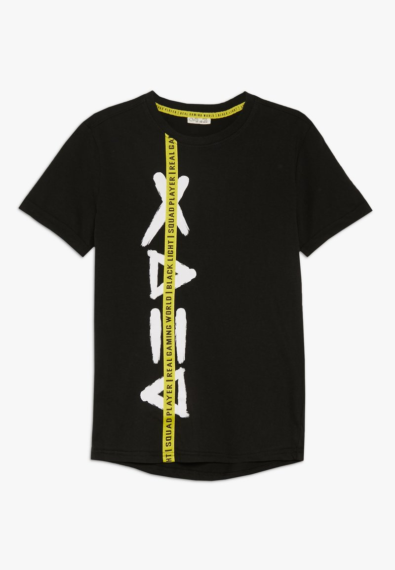OVS - TEE SIDE PRINT - Print T-shirt - black