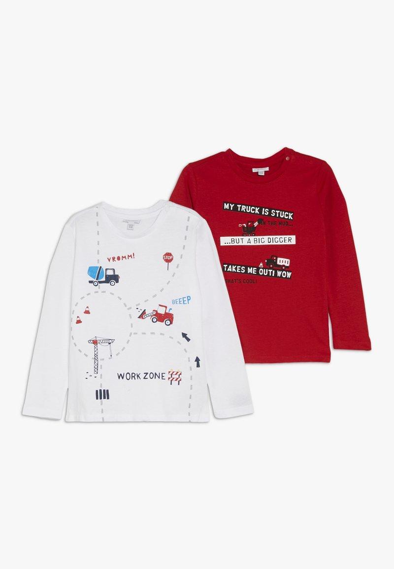 OVS - BABY 2 PACK - Maglietta a manica lunga - bright white/high risk red