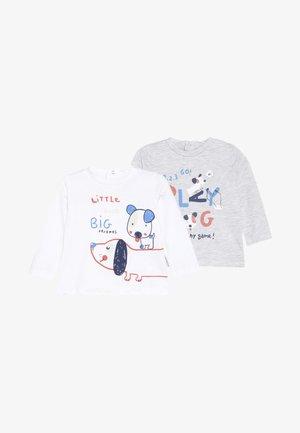 BABY 2 PACK - Longsleeve - bright white/grey melange