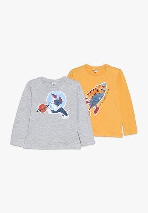 BABY PRINT 2 PACK - T-shirt à manches longues - honey yellow/grey melange
