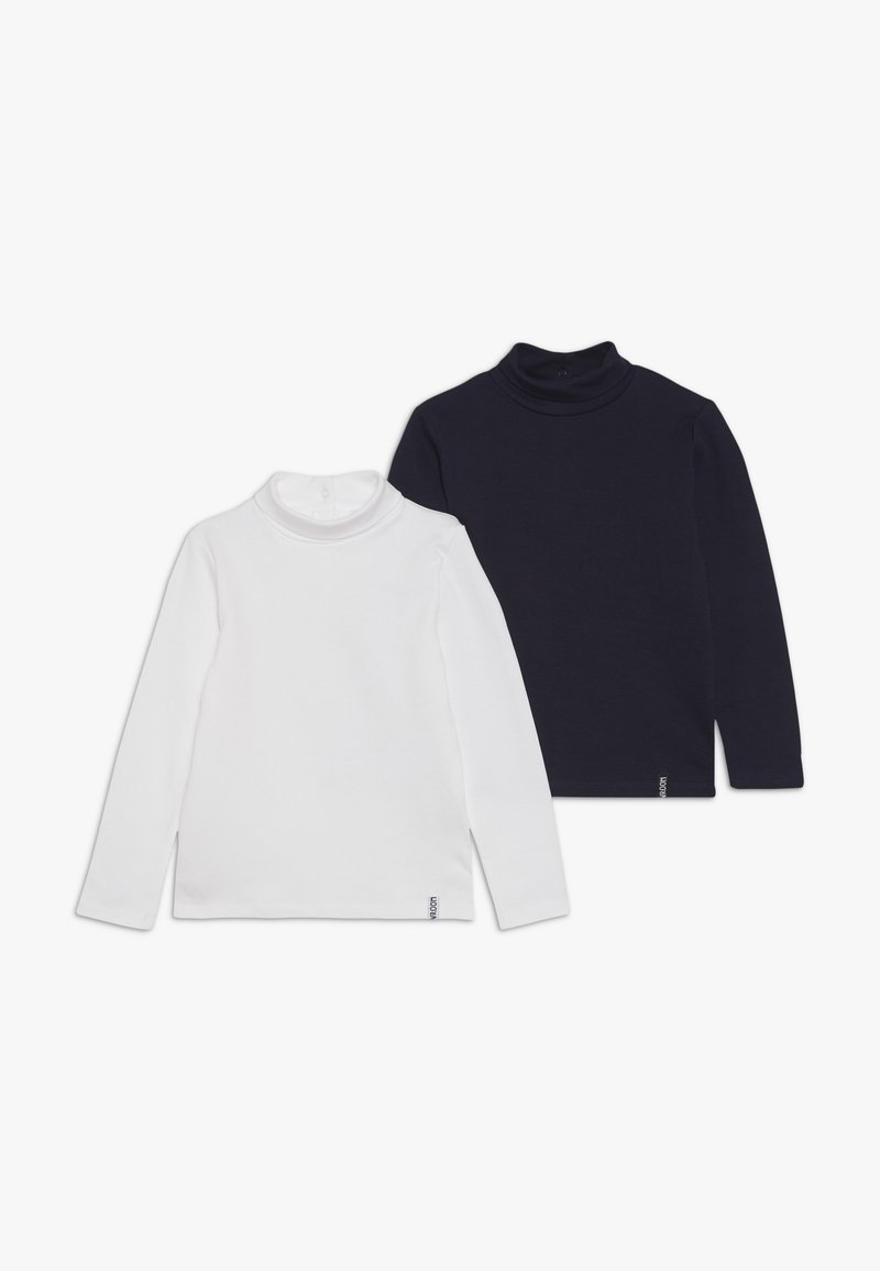 OVS - BABY SOLID TURTLE NECK 2 PACK - T-shirt à manches longues - snow white/navy peony