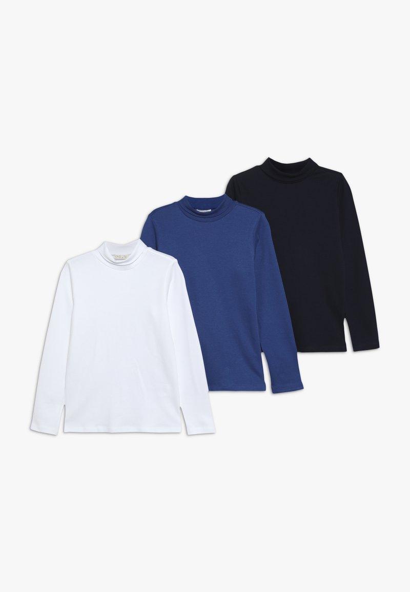 OVS - CREW NECK 3 PACK - Langærmede T-shirts - brilliant white/true blue/navy blazer