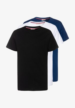 3 PACK - T-shirt basic - brilliant white/anthracite/estate blue