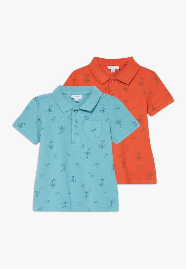 2 PACK - Koszulka polo - marine blue/pureed pumpkin