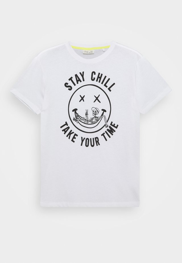 Print T-shirt - brilliant white