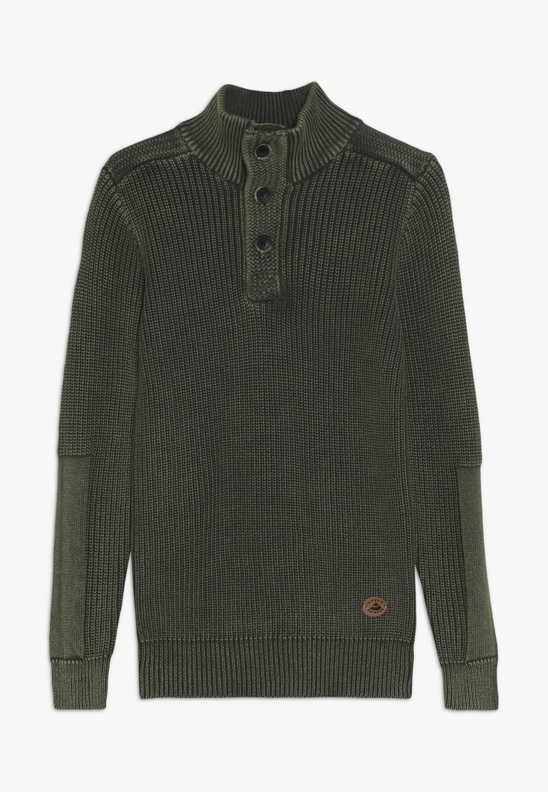 OVS - TRICOTHALF NECK BUTTONS - Pullover - olive