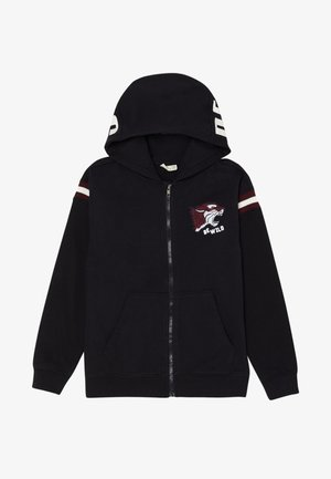 WITH INSERTS AND EMBROIDERY - Sudadera con cremallera - black