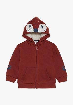 BABY FULL ZIP CARDIGAN HOOD - Zip-up hoodie - orange melange