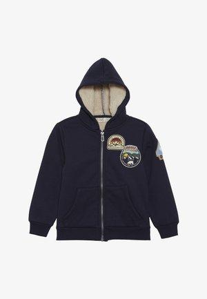 ROUND - Hoodie met rits - navy blazer