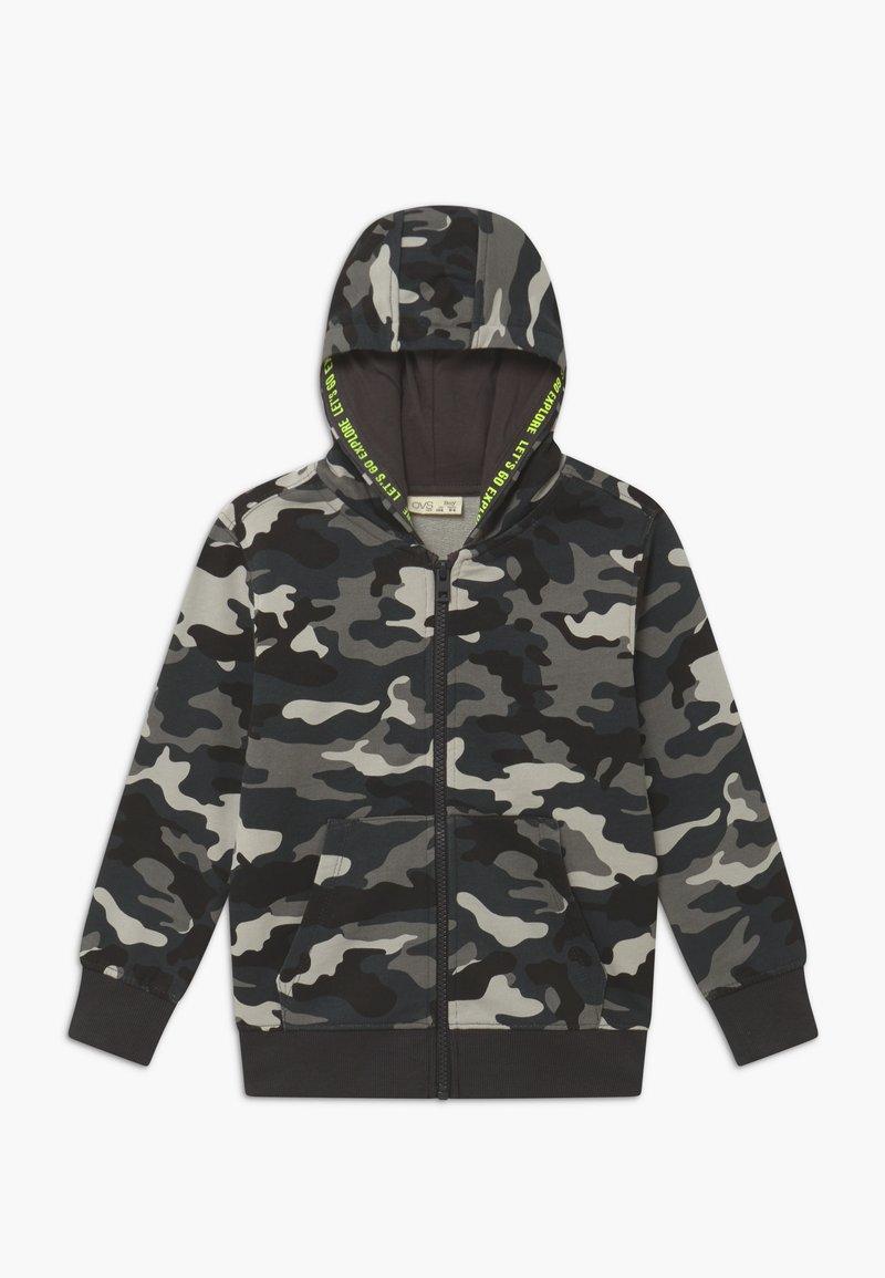 OVS - CAMO - Zip-up hoodie - phantom