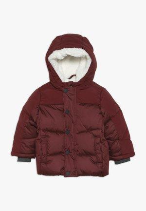 BABY JACKET WITH HOOD - Płaszcz zimowy - burgundy