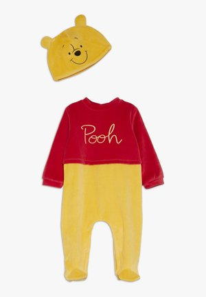 BABY ROMPER HAT SET - Mono - fiery red