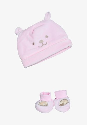 BABY HAT SHOES SET  - Berretto - pink lady