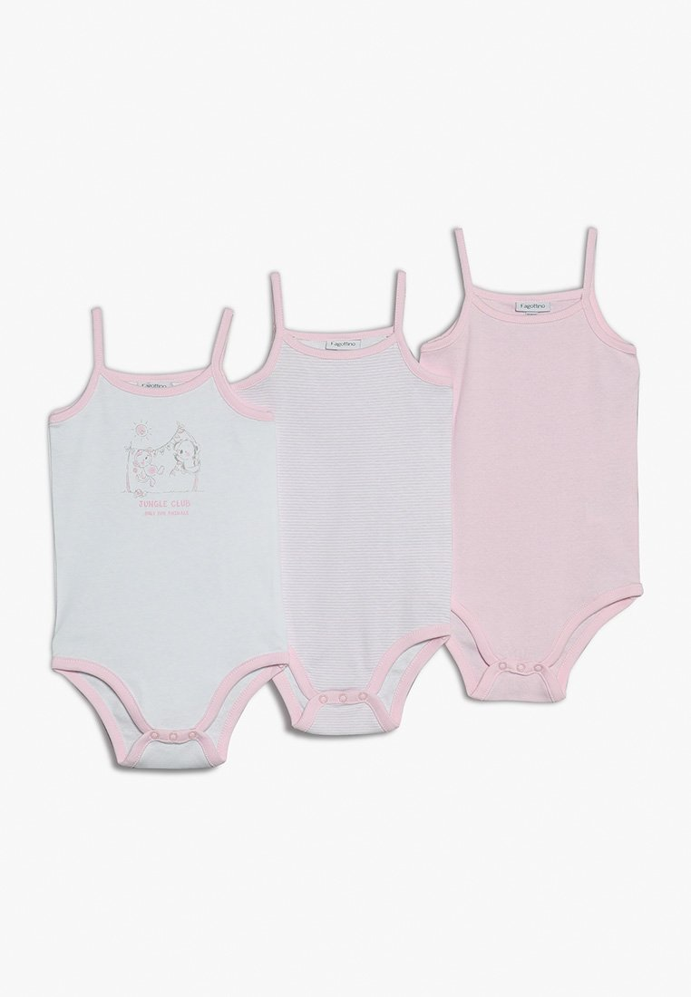 OVS - GIRL BABY 3 PACK - Body - white/pink