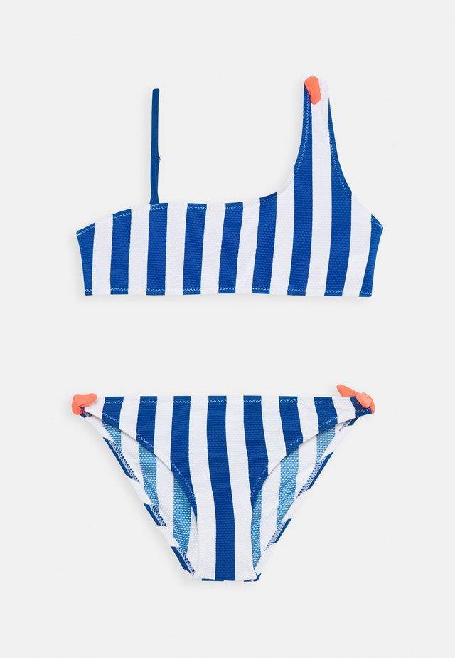 GIRL STRIPES SET - Bikini - peacock blue