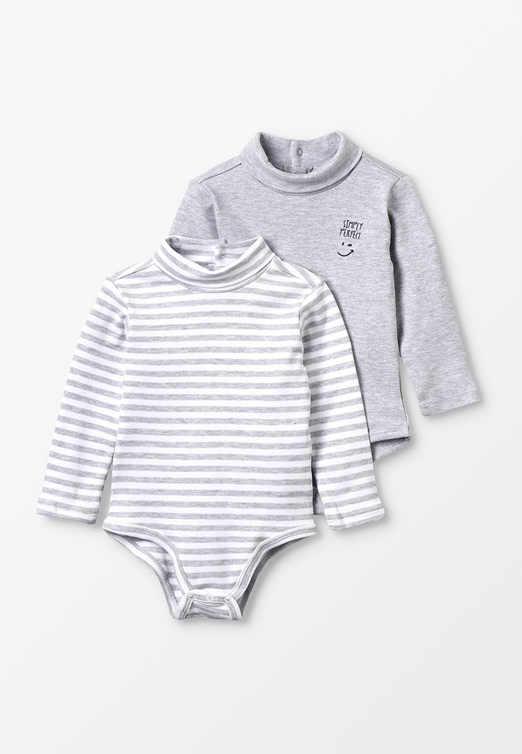 OVS - BABY BOY 2 PACK - Body - mottled grey/white