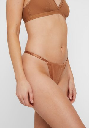 JANE PANTY - String - tobacco brown