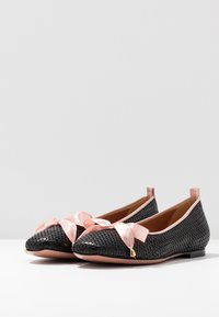 Oxitaly - LORENA - Ballet pumps - black/pink - 4