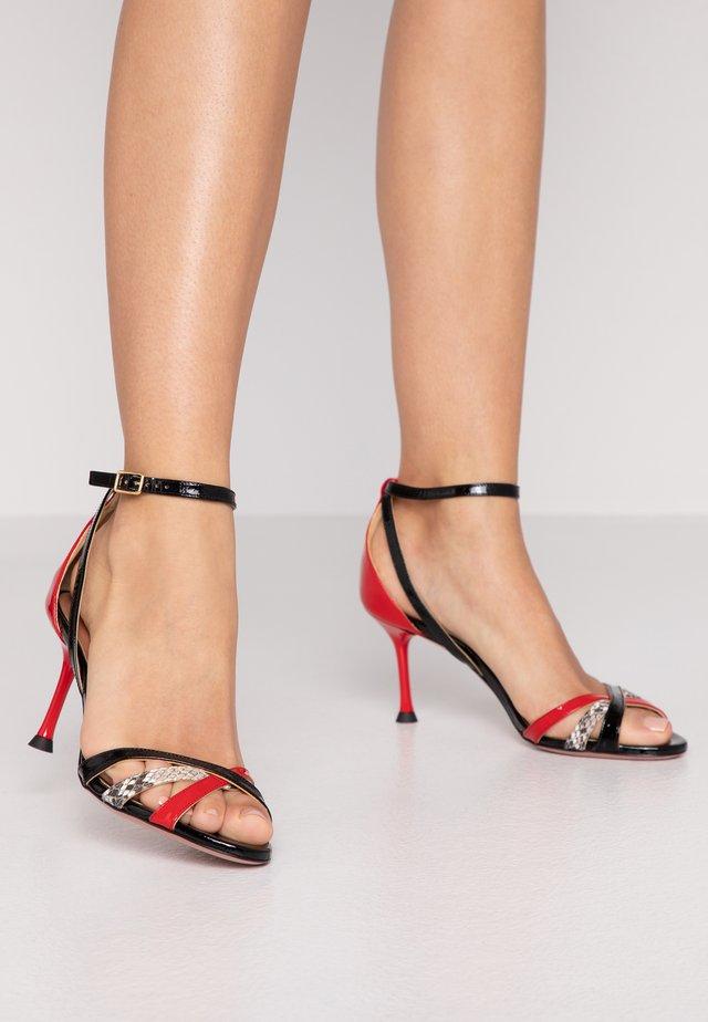PIANA  - Sandals - rosso/roccia