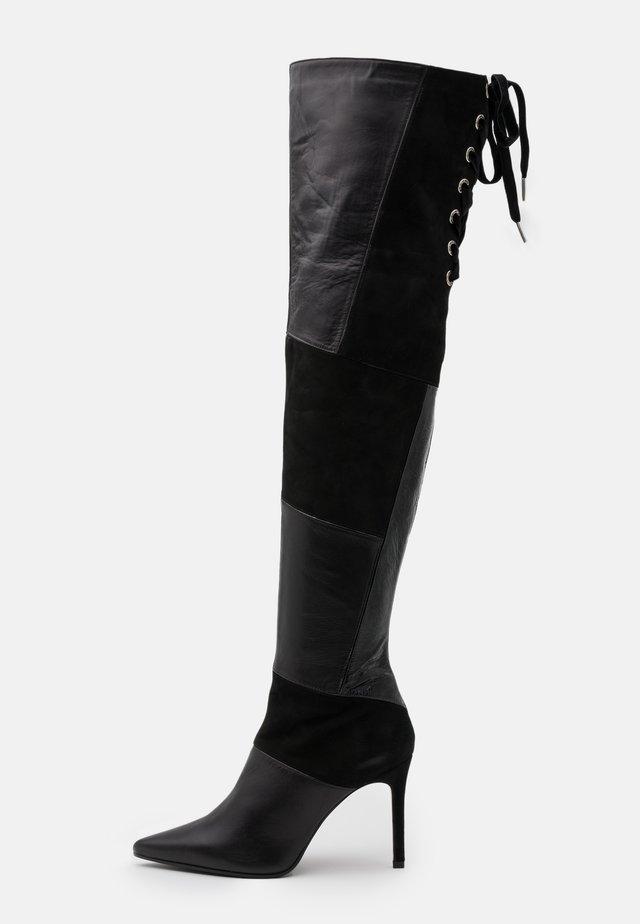 SOLE - Laarzen met hoge hak - nero
