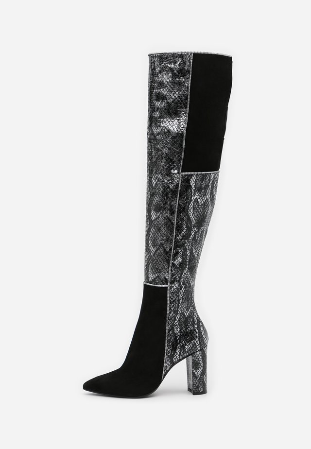 CAMELIE  - High heeled boots - saura strip bronzo