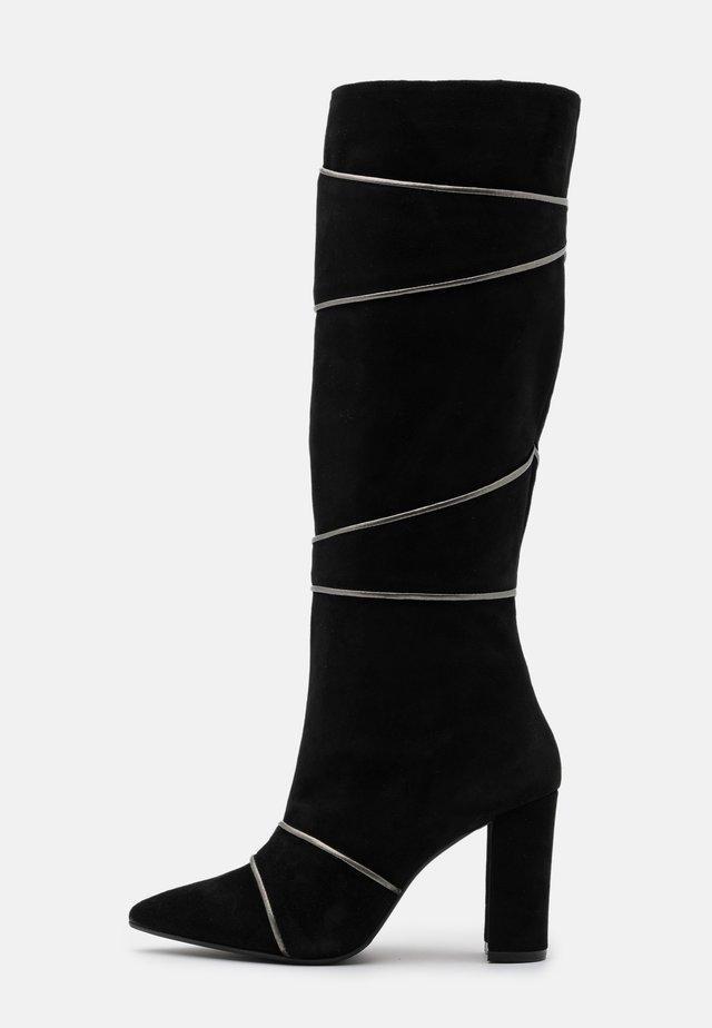 CAMELIE - Stivali con i tacchi - nero/gun metal