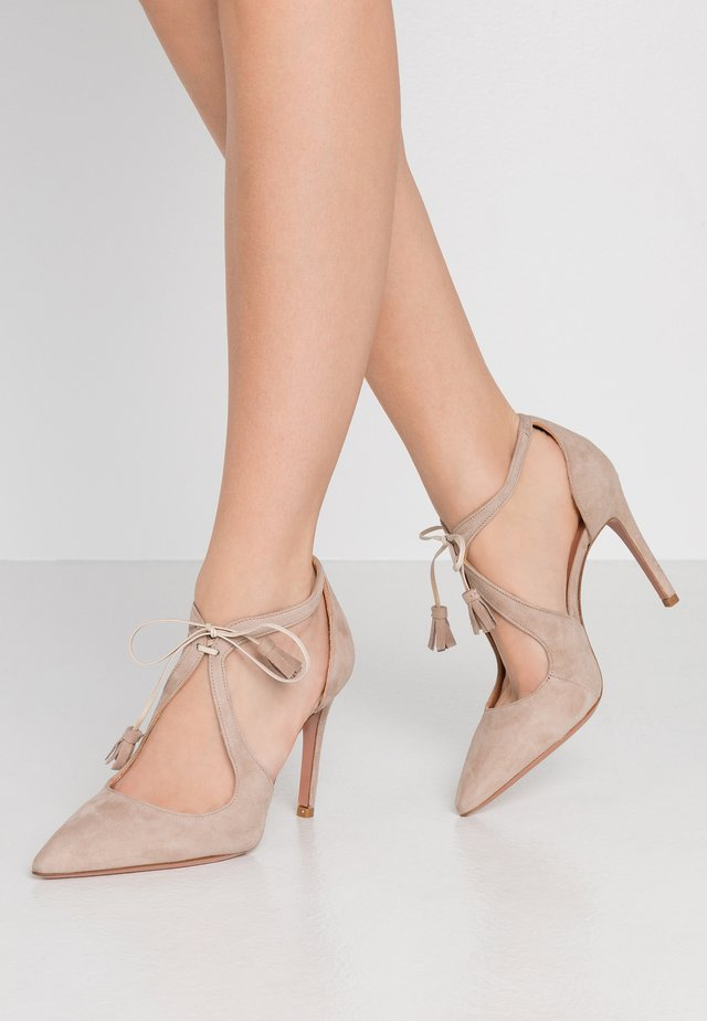 SILLA - High Heel Pumps - almond
