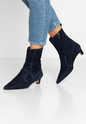 SANDRA - Classic ankle boots - blue