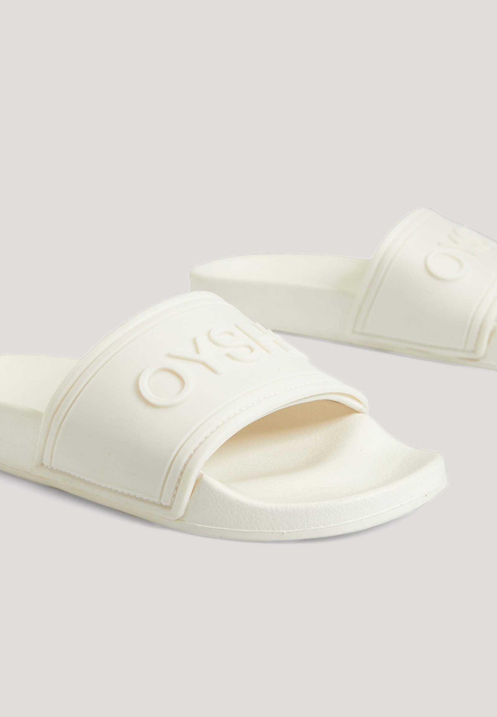 OYSHO_SPORT MIT LOGO - Pool slides - white