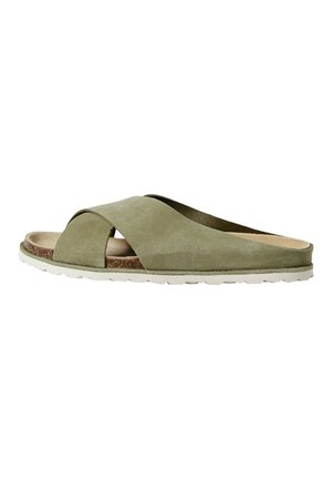 Pantolette flach - green