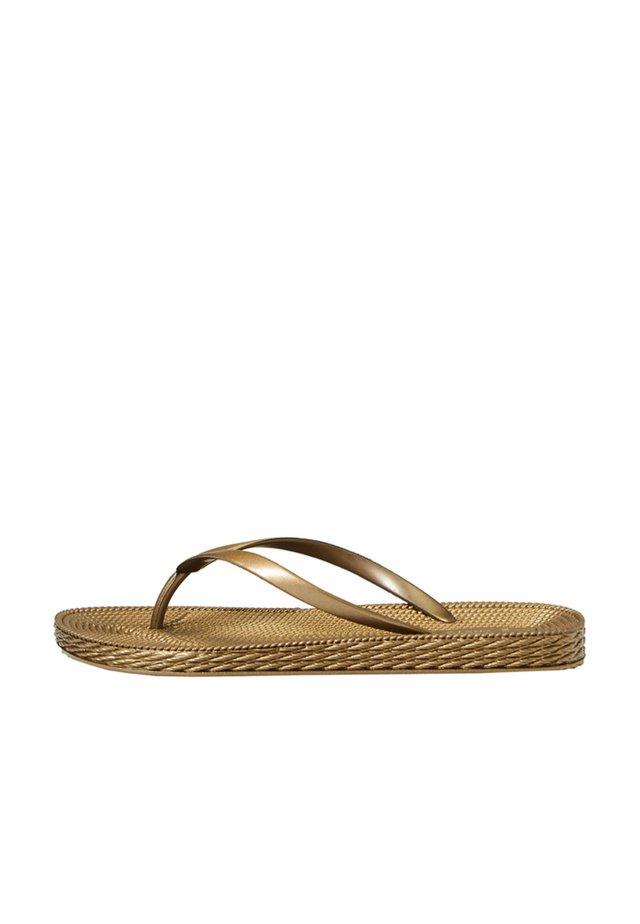 Sandaler m/ tåsplit - gold